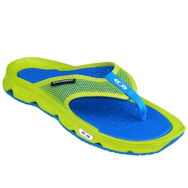 elegante Schuhe neuer Lebensstil Straßenpreis Salomon RX Break Zehentrenner Herren Lifestyle Badesandalen gruen/blau